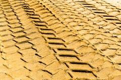 Vehicle Tyre Mud Prints Royalty Free Stock Photo