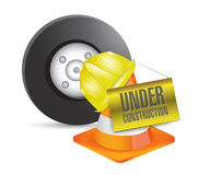 Vehicle under construction sign illustration Stock Photography