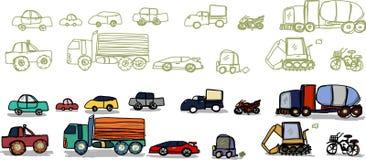 Vehicle vector cartoon hand drawn Royalty Free Stock Image