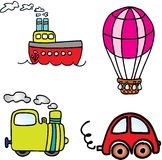 Vehicle vector set Royalty Free Stock Photos