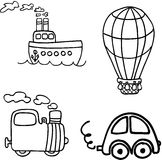Vehicle vector set Stock Image
