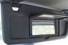 Vehicle Visor Down with Passenger Mirror Open Stock Photography