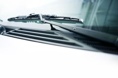 Vehicle Wiper. And the Windshield. Vehicle Details Photo Collection Stock Photos