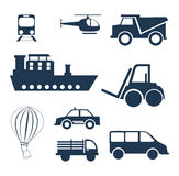 Vehicles. Design over  white background vector illustration Royalty Free Stock Images