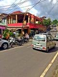 Vehicles along Jalan Monkey Forest Royalty Free Stock Photography