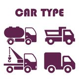 Vehicles and Cars Silhouette Flat Illustration stock illustration