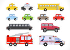Vehicles collection Stock Image