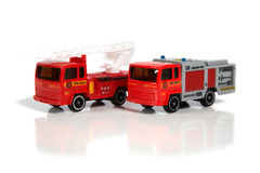 Vehicles of firefighters Stock Photos