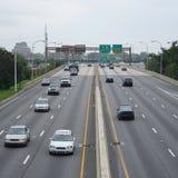 Vehicles on freeway Stock Photography