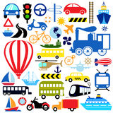 Vehicles icon set Stock Images