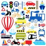 Vehicles icon set Stock Images