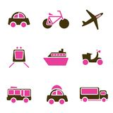 Vehicles icon set vector Stock Photography