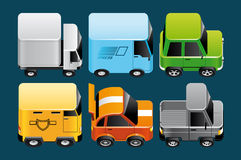 Vehicles icons Stock Image