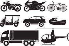 Vehicles. Illustration - vehicles transportation icon set vector illustration