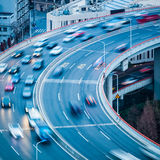 Vehicles motion blur closeup Stock Image