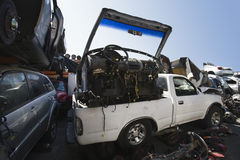 Vehicles And Parts In Scrap Yard Stock Photography