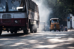 Vehicles polluting the air we breath. Royalty Free Stock Photo