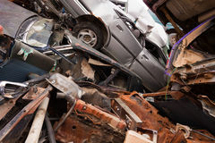 Vehicles rust on scrapyard Stock Photos