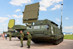 Vehicles of the S-300V missile complex Stock Photos