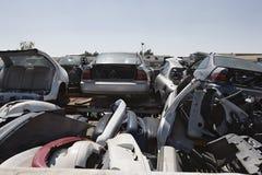 Vehicles At Scrap Yard Stock Images