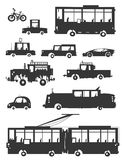 Vehicles Silhouettes. Royalty Free Stock Image