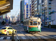 Vehicles on street in Hiroshima, Japan.  Royalty Free Stock Photo