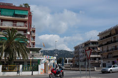 Vehicles in the streets of Calella Royalty Free Stock Photos