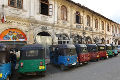Vehicles in the streets of Sri Lanka. 14. December 2017 Stock Images