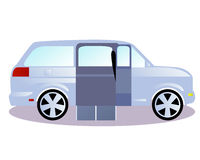 Vehicles for transportation of persons with disabilities royalty free illustration