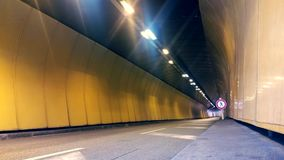 Vehicles In The Tunnel Of Monaco stock video