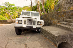 A vehicular fender-bender in the tropics Royalty Free Stock Image