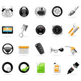 Vehicular service center (car station) icons Royalty Free Stock Image