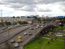 Vehicular traffic bridge in Bogota, Colombia. Royalty Free Stock Photos
