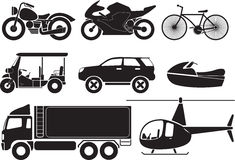 veicoli illustrazione vettoriale