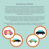 Veicoli autonomi infographic con dentro un cerchio Fotografia Stock Libera da Diritti