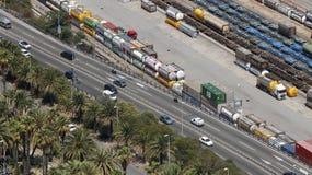 Veicoli della ferrovia e della strada Fotografia Stock Libera da Diritti