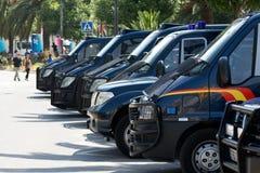 Veicoli di polizia Immagini Stock Libere da Diritti
