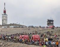 Veicoli di Vittel su Mont Ventoux Immagini Stock Libere da Diritti