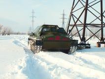 Veicoli fuori strada nella neve Fotografia Stock
