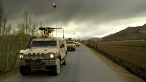 Veicoli militari cechi nell'Afghanistan Fotografia Stock