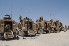 Veicoli militari nell'Afghanistan Fotografia Stock