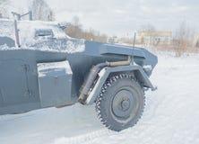 Veicolo blindato tedesco, ruota anteriore e tubo di scarico Immagine Stock Libera da Diritti