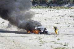 Veicolo Burning Fotografia Stock Libera da Diritti
