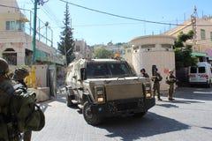 Veicolo corazzato del lupo militare israeliano Fotografie Stock