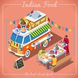 Veicolo del camion 02 dell'alimento isometrico Fotografie Stock Libere da Diritti