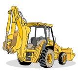 Veicolo del caricatore dell'escavatore a cucchiaia rovescia Fotografia Stock Libera da Diritti