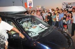 Veicolo del `s di Javier Sicilias dell'attivista nella protesta Immagini Stock