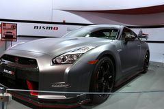 Veicolo di cena di Nissan GT-R fotografia stock libera da diritti