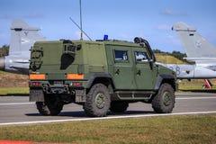Veicolo di esercito sulla pattuglia Fotografia Stock Libera da Diritti