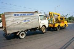 Veicolo di soccorso asiatico sercive Fotografia Stock Libera da Diritti